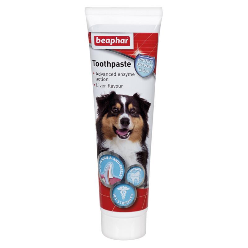 Кучешка паста за зъби с аромат на черен дроб