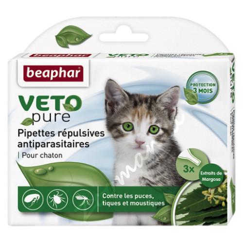 Beaphar Bio Spot On Kitten - Противопаразитни пипети за котенца - 3 бр.