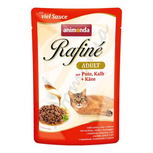 Rafiné® Cat Adult - Качествена храна за котки с пуешко, телешко и сирене
