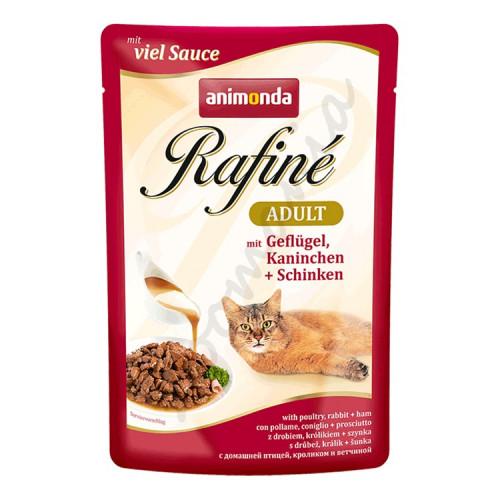 Rafiné® Cat Adult - Пилешко, заешко и шунка