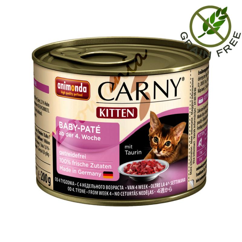 Храна за котенца от висок клас Carny® Kitten Baby Patè - 200 гр
