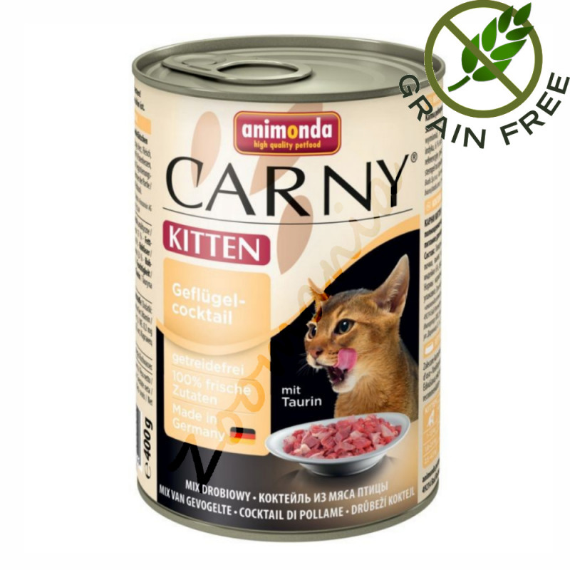 Консерва за котенца със супер премиум качество Carny® Kitten Коктейл Пернати - 400 гр
