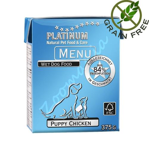 Храна за кученца с ултра премиум качество - Platinum Menu Puppy - 375 гр