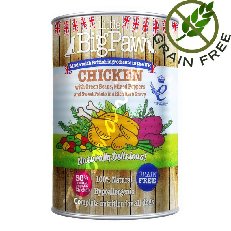 Кучешка консерва с пилешко - Little BigPaw Пилешко - 390 гр