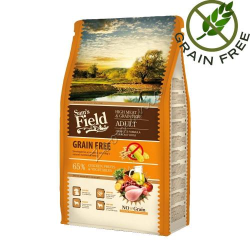 """Ултра премиум качество - суха храна за кучета """"Fresh High Meat & Grain Free Adult"""" 2.5 кг"""