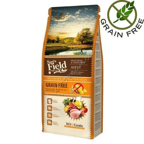 """Суха храна за кучета със супер премиум качество """"Fresh High Meat & Grain Free Adult"""" 13 кг"""