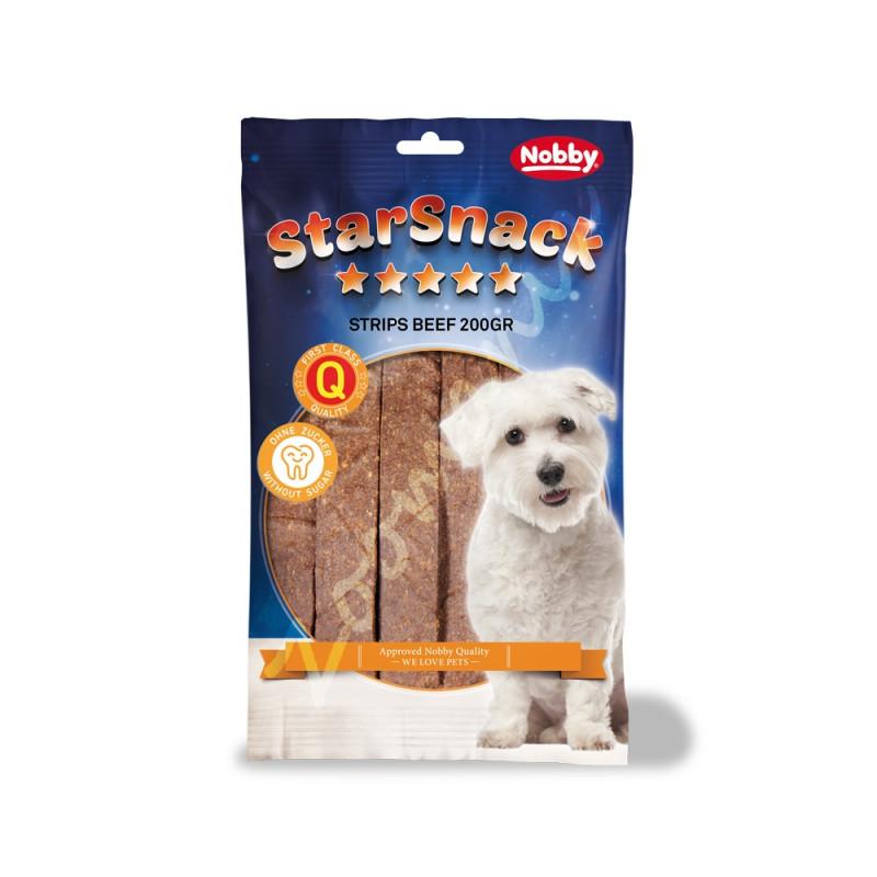 """Кучешко лакомство с говеждо StarSnack Strips """"Beef"""" - 20 бр."""