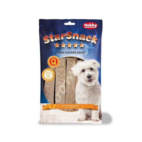 """Лакомство за кучета с пилешко StarSnack Strips """"Chicken"""" - 20 бр."""