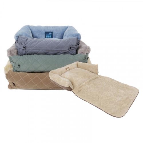 Легло за кученце с предпазител за меката мебел