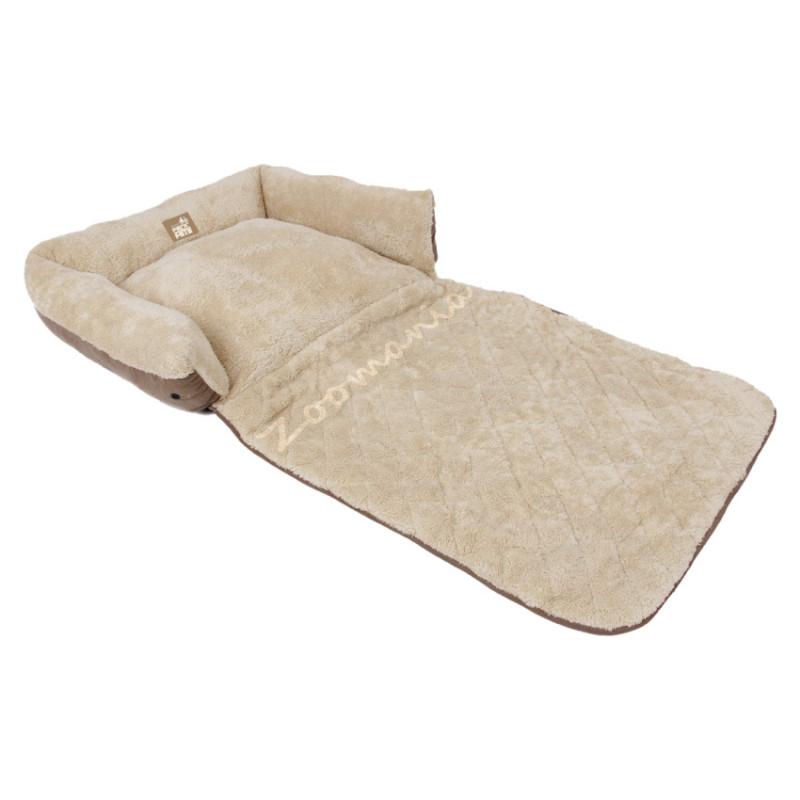 Легло за куче с предпазител за меката мебел