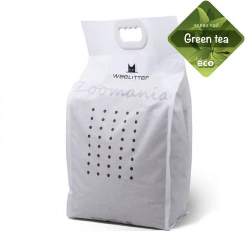 Натурален био разградим котешки пясък с аромат на зелен чай