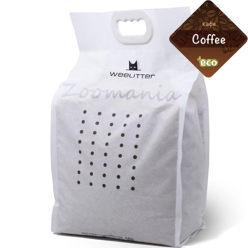 Натурална био разградима котешка тоалетна с аромат на кафе