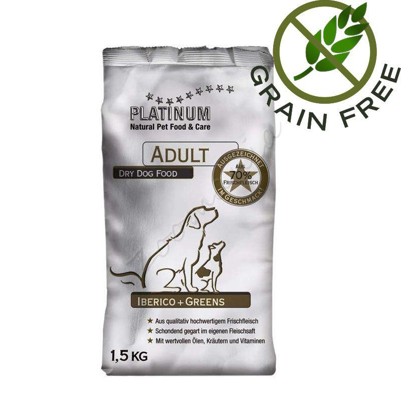"""Вискокачествена храна за кучета """"Platinum Iberico and Greens"""" – 1.5 кг Grain Free"""