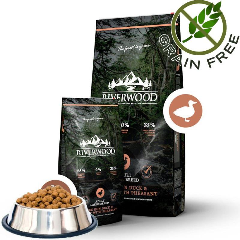 """Насипна храна за кучета с ултра премиум качество Riverwood """"Duck & Turkey with Pheasant Adult Large"""" - 0.500 кг от чувал"""