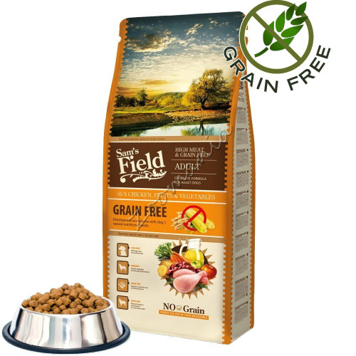 "Sam's Field ""Fresh High Meat & Grain Free Adult"" - 0.500 кг от чувал"