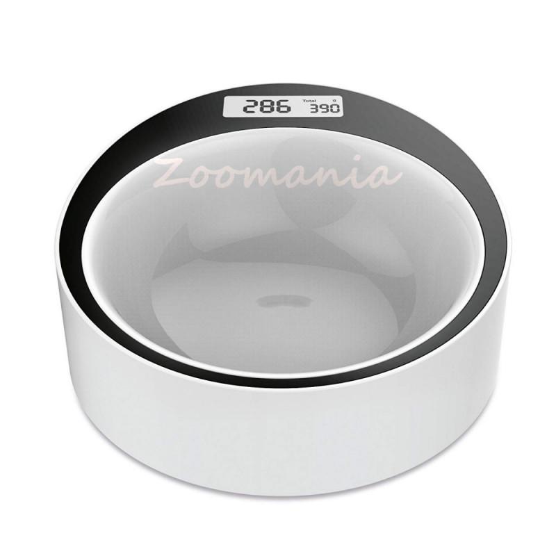 Умна купа за хранене с вграден кантар на куче или коте Yumi Smart Bowl бяла