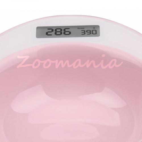 Умна купа с вградена електронна везна за хранене на куче или коте Yumi Smart Bowl розова