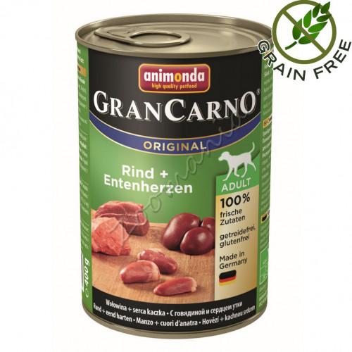 GranCarno® Adult Original с Говеждо и патешки сърца - 400 гр