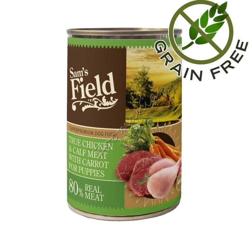 Висококачествена храна за кученца - консерва с месо и моркови True Chicken & Calf Meat With Carrot For Puppies
