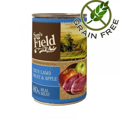 Супер качествена храна за кучета с агнешко и ябълки - консерва True Lamb Meat & Apple