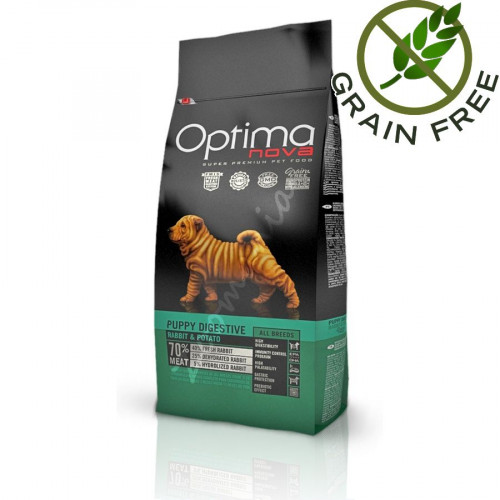 Optima Nova Puppy Digestive Rabbit & Potato - 2 кг