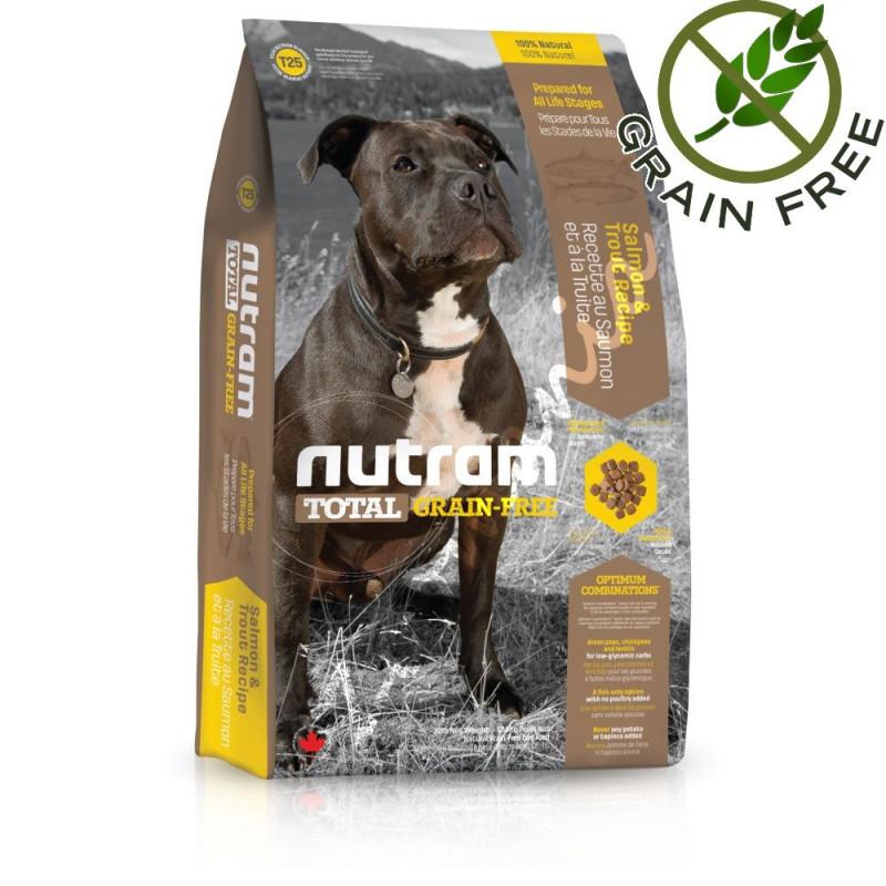 Хипоалергична кучешка храна - Nutram Total Grain Free Trout & Salmon Adult Dog