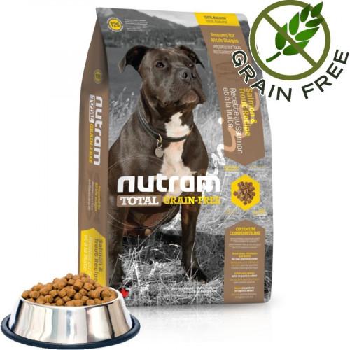 Хипоалергична кучешка храна - Nutram Total Grain Free Trout & Salmon Adult Dog 1 кг от чувал