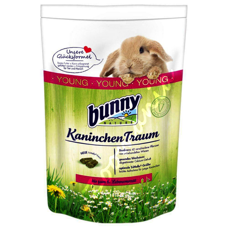 Качествена храна за декоративни зайчета - Bunny Kaninchentraum Young
