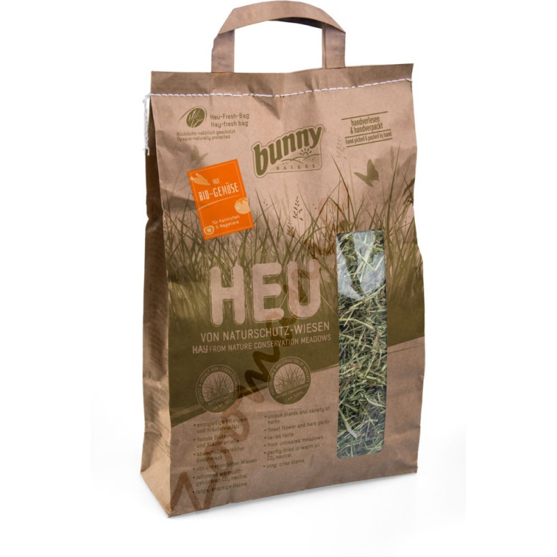 Качествено сено за гризачи обогатено с био зеленчуци и добито от защитени ливади