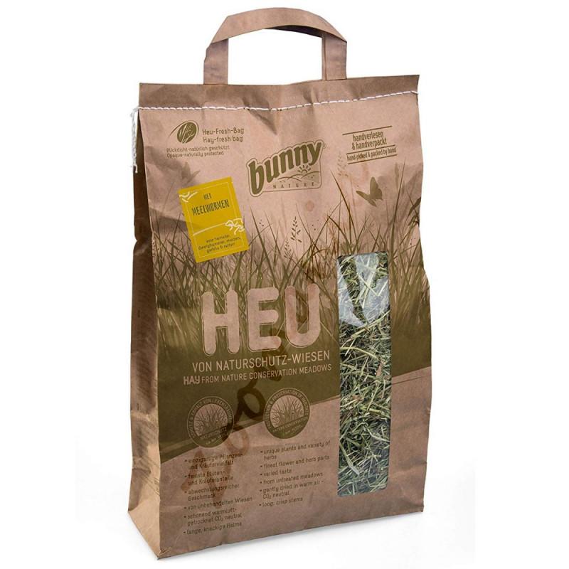 Качествено сено за гризачи обогатено с брашнени червеи и добито от защитени ливади