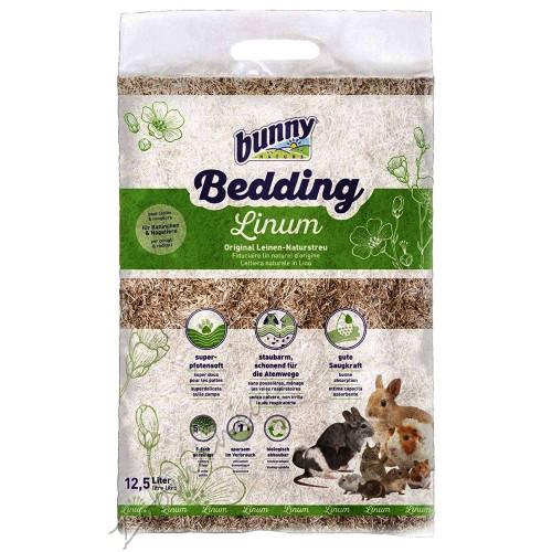 Ленена постеля за клетка на гризачи Bunny Bedding Linum - 12.5 л