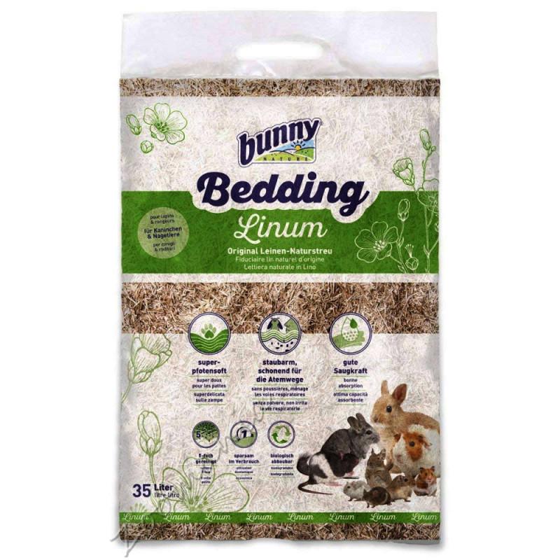 Ленена постеля за клетка на гризачи Bunny Bedding Linum - 35 л