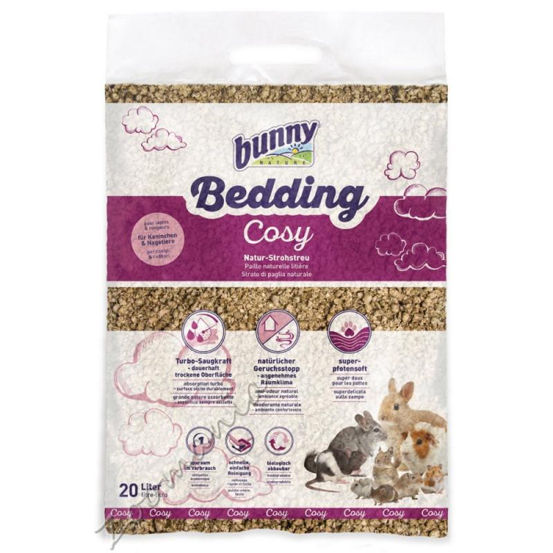 Натурална сламена постеля за клетка на гризачи Bunny Bedding Cosy - 20 л