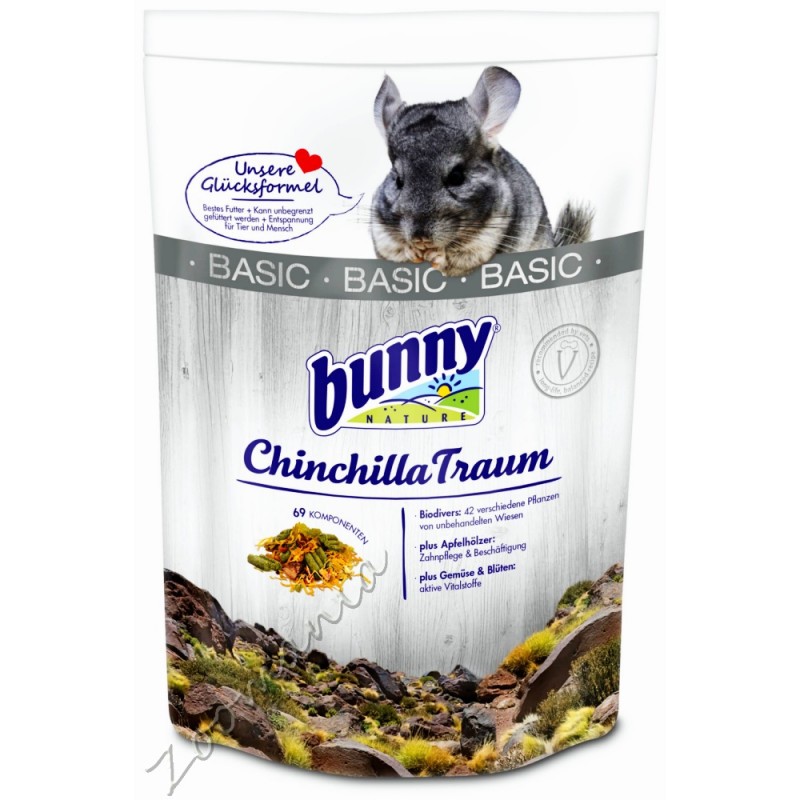 Качествена храна за чинчила Bunny Chinchilla Basic 1.5 кг
