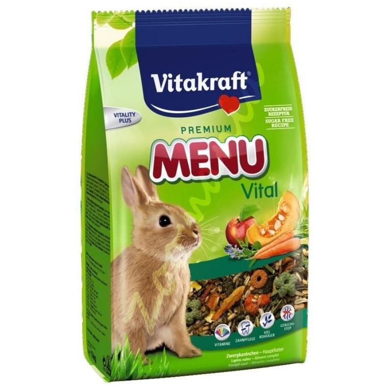 Качествена храна за зайци Vitacraft Premium Menu Vital 1 кг