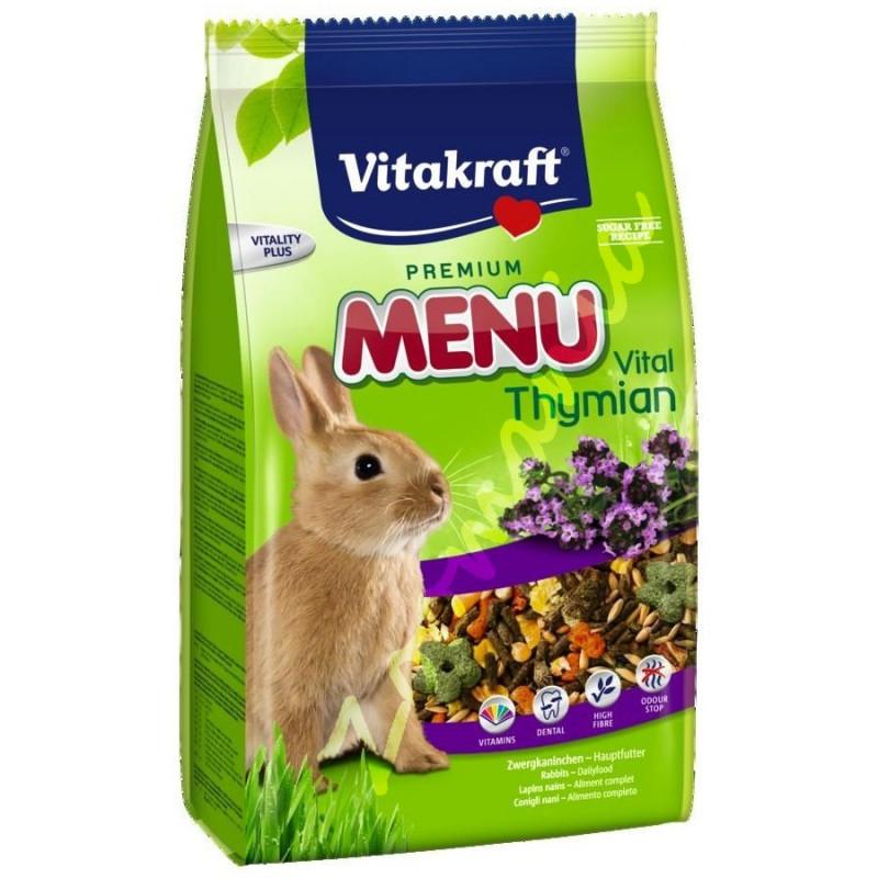 Качесвтвена храна за декоративно зайче Vitacraft Premium Menu Thimian 1 кг
