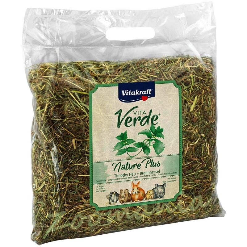 Качествено сено за гризачи Vitakraft Vita Verde с коприва - 0.500 кг