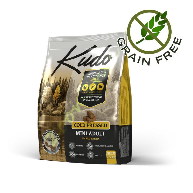 Качествена храна за кучета от малки породи Kudo Mini Adult - 2.5 кг