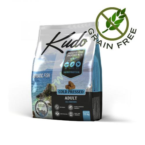 Диетична храна за кучета без глутен Kudo Риба от Адриатика - 7.5 кг