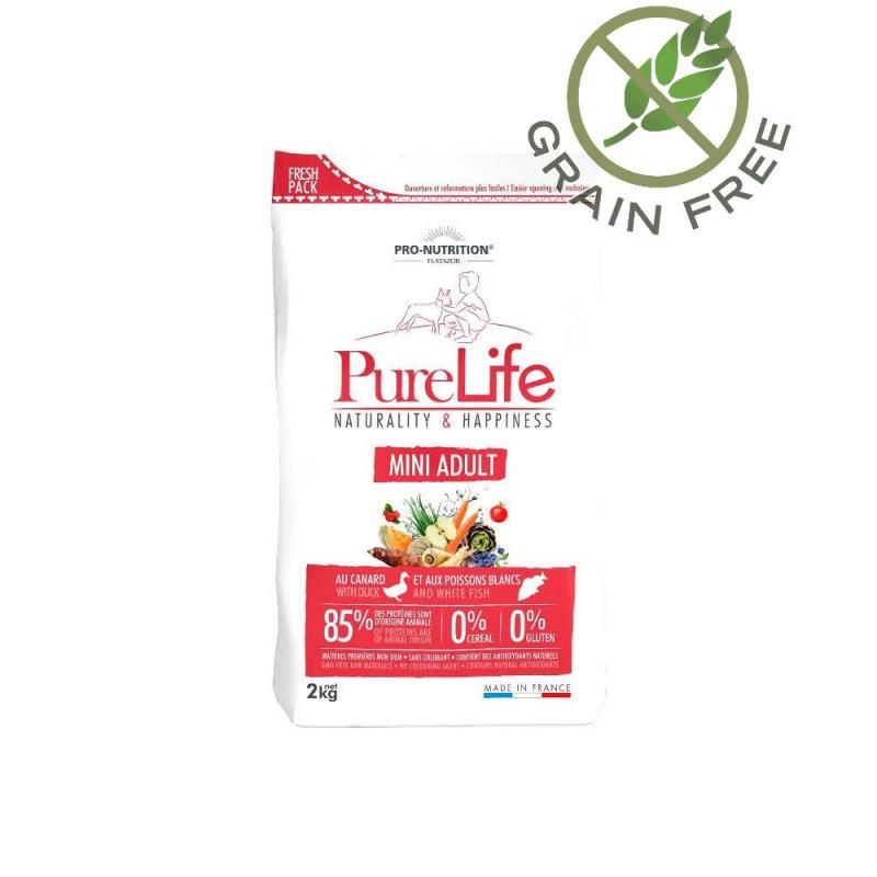 Качествена храна за йорки, френчи, ливретка и други дребни породи кучета - Pure Life Mini Adult 2 кг