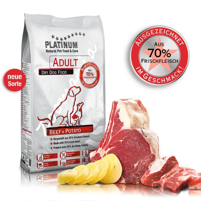 """Висок клас беззърнена храна за кучета """"Platinum Beef and Potato"""" – 5 кг"""