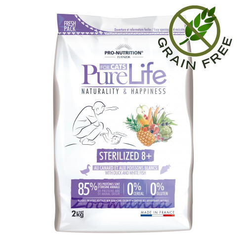 Pure Life Cat Sterilized 8 plus - 2 кг
