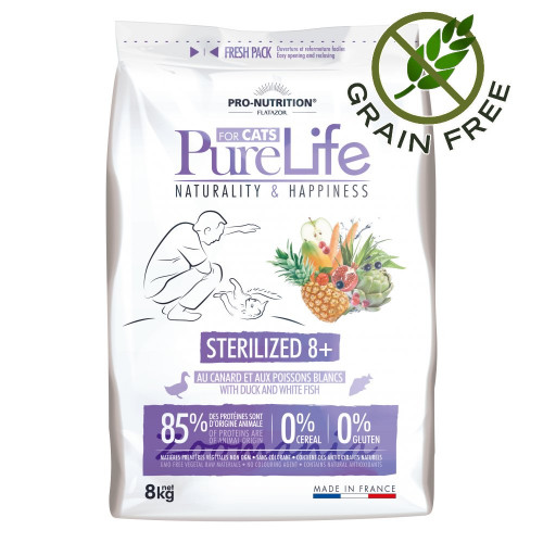 Pure Life Cat Sterilized 8 plus - 8 кг