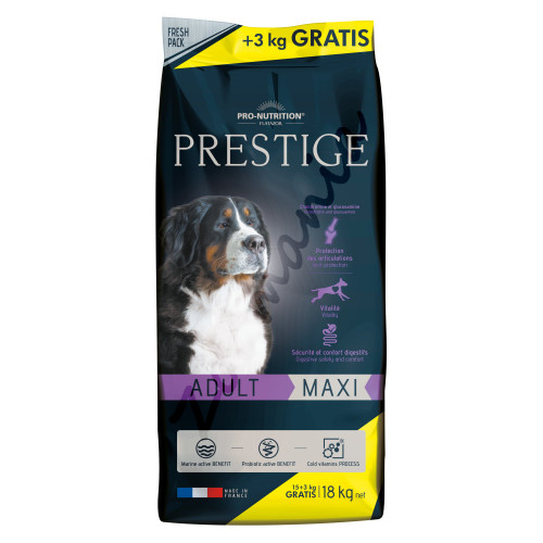 Prestige Dog Adult Maxi - 15 кг + 3 кг гратис