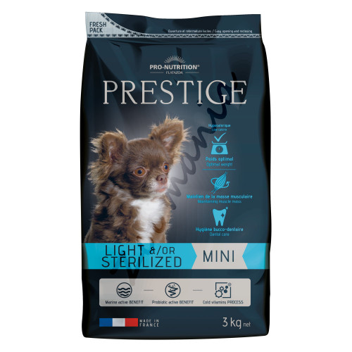 Flatazor Prestige Dog Mini Light &/Or Sterilized - 3 кг