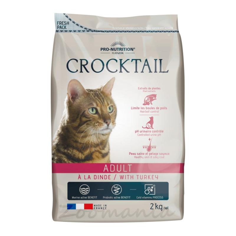 Произведена във Франция качествена храна за котки - Flatazor Crocktail Adult with Turkey - 10 кг