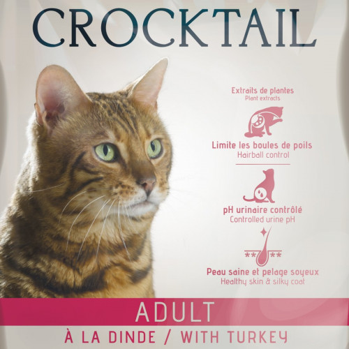 Качествена френска храна за котки - Flatazor Crocktail Adult with Turkey - 10 кг