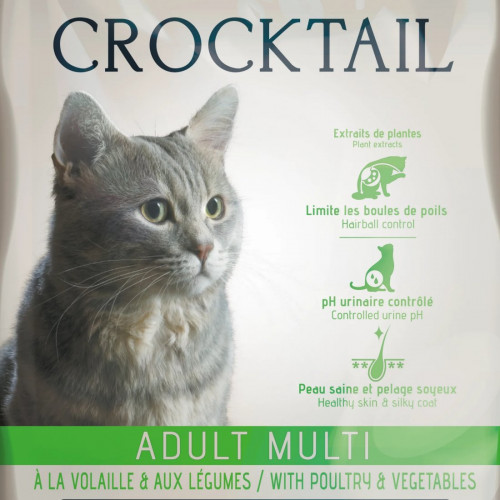 Френска котешка храна с активни пробиотици - Flatazor Crocktail Adult Multi with Poultry & Vegetables - 2 кг
