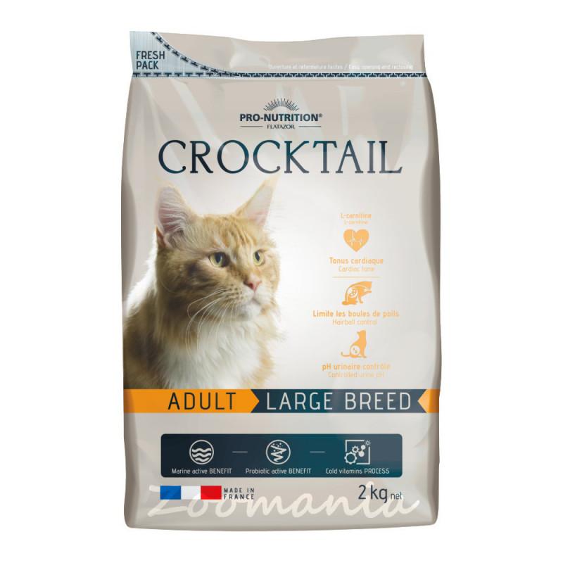 Качествена храна за котки с живи пробиотици - Flatazor Crocktail Adult Large Breed 2 кг