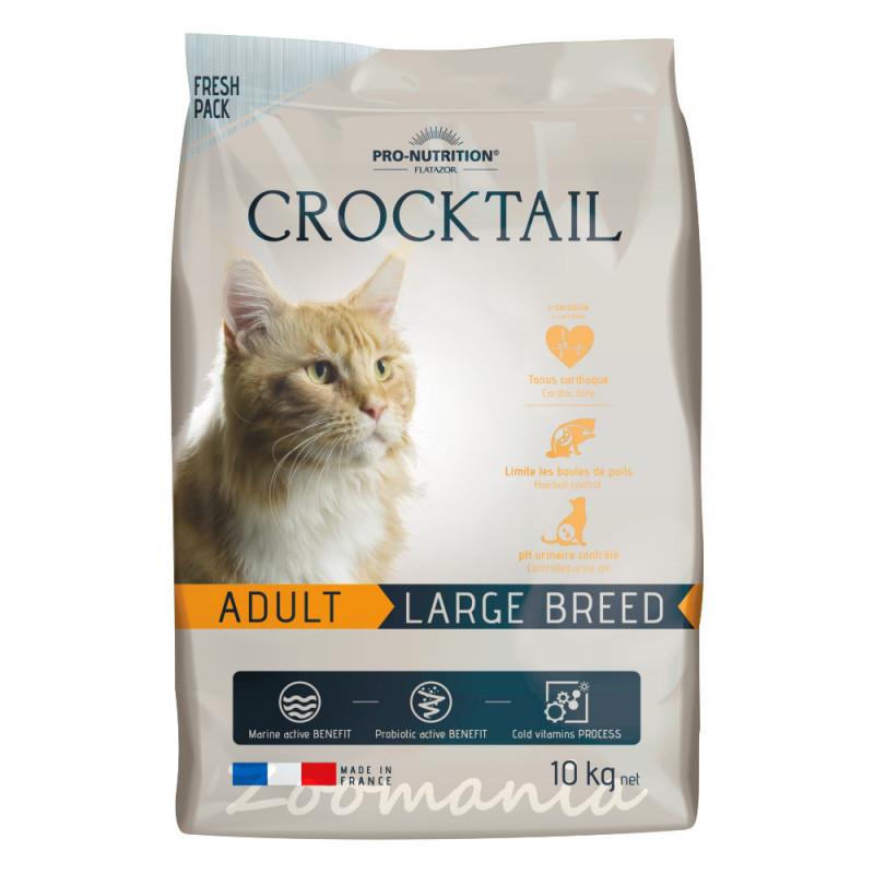 Качествена храна за котки с живи пробиотици - Flatazor Crocktail Adult Large Breed 10 кг
